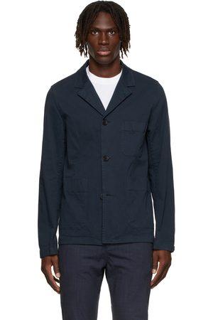 Paul Smith Men Blazers - Navy Convertible Collar Jacket