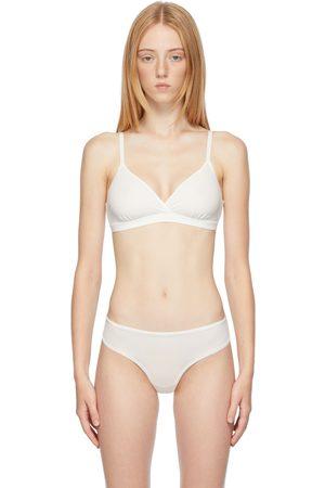 SKIMS Women Bras - White Fits Everybody Crossover Bralette