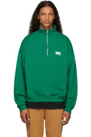 M.A. Martin Asbjorn Men Turtlenecks - Green Turtleneck 'MA' Sweatshirt