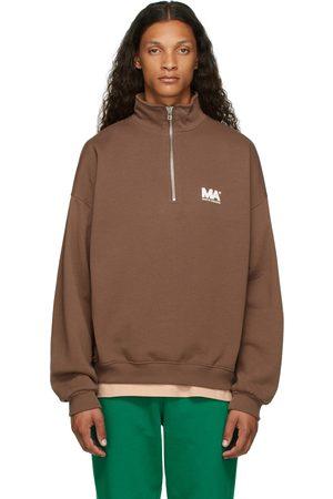 M.A. Martin Asbjorn Men Turtlenecks - Brown Turtleneck 'MA' Sweatshirt