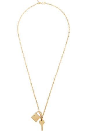 EMANUELE BICOCCHI Men Necklaces - SSENSE Exclusive Padlock & Key Necklace