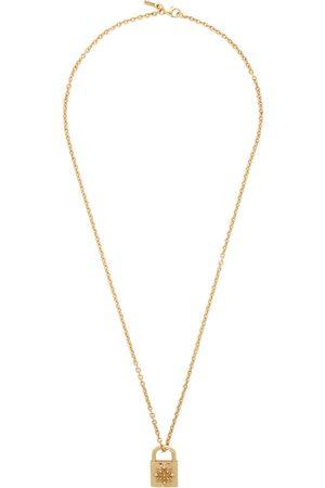 EMANUELE BICOCCHI SSENSE Exclusive Engraved Padlock Necklace