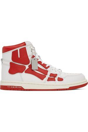 AMIRI White & Red Skel Top Hi Sneakers