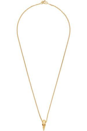EMANUELE BICOCCHI Men Necklaces - SSENSE Exclusive Skull Horn Necklace