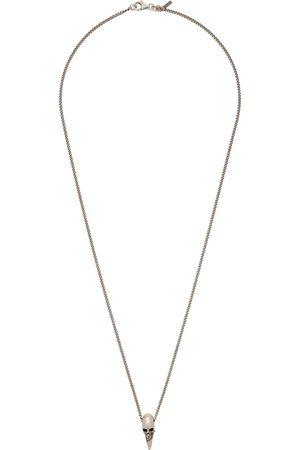 EMANUELE BICOCCHI SSENSE Exclusive Skull Horn Necklace
