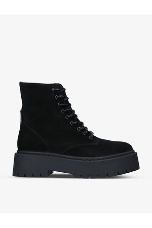 Steve Madden Women Ankle Boots - Skylar lace-up leather ankle boots