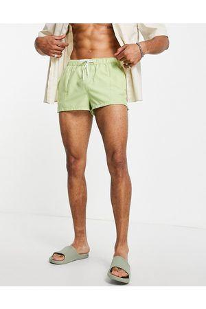 ASOS Swim shorts with pin tuck in light super short length