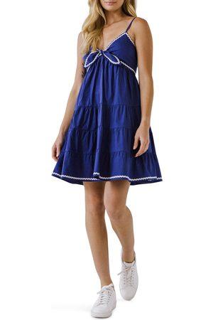 English Factory Women's Rickrack Tiered Babydoll Dress