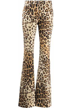 Etro Women Flares - Leopard-Print Flared Jeans