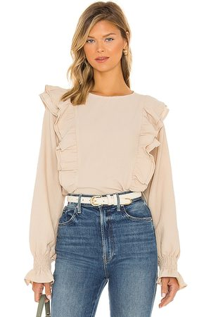 LINE & DOT Carly Crinkled Blouse in .