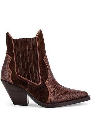 Toral Fiona Bootie in Brown.