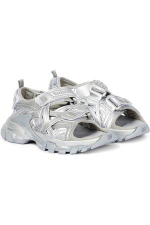 Balenciaga Metallic trekking sandals