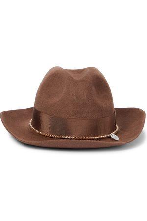 Ruslan Baginskiy Embellished felt fedora hat