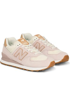 New Balance X Reformation 574 suede-trimmed sneakers