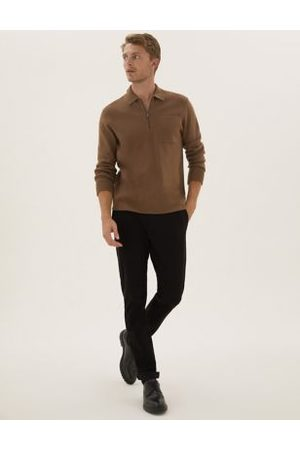 Marks & Spencer Men Chinos - Slim Fit Organic Cotton Ultimate Chinos