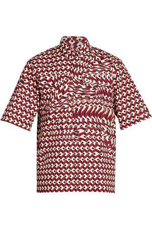 DRIES VAN NOTEN Claseni Short-Sleeve Button-Down Shirt