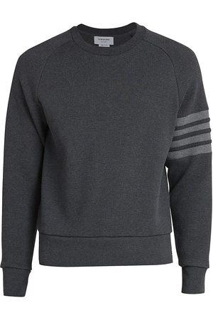 Thom Browne Men Sweatshirts - Raglan Waffle Crewneck Sweatshirt