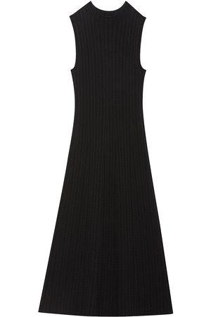 THEORY Cable-Knit Sleeveless Midi Dress