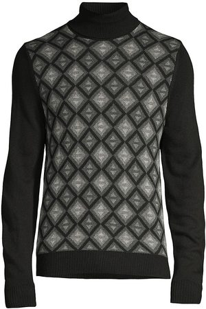 CANALI Turtlenecks - Geometric Turtleneck Sweater