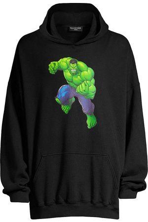Balenciaga Men Hoodies - Hulk Boxy Hoodie Sweatshirt