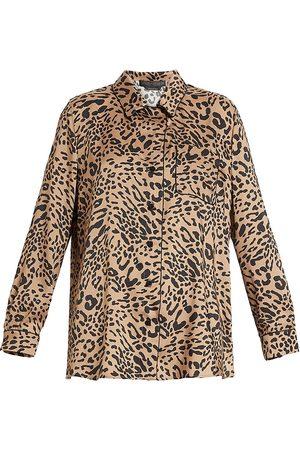 Persona by Marina Rinaldi Bambola Twill Leopard Shirt
