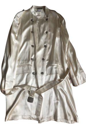 ANN DEMEULEMEESTER Silk trench coat