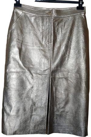 Moschino Leather mid-length skirt