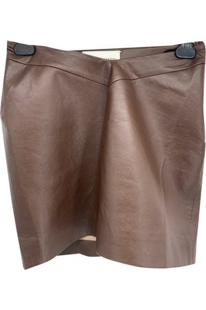 ALEKSANDRE AKHALKATSISHVILI Leather mini skirt