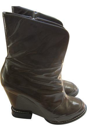 Chloé Patent leather biker boots