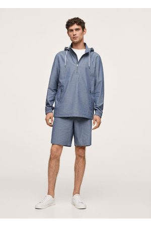 MANGO Men Jackets - Cotton jacket with zippers