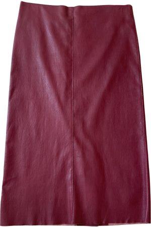 DROME Leather mid-length skirt