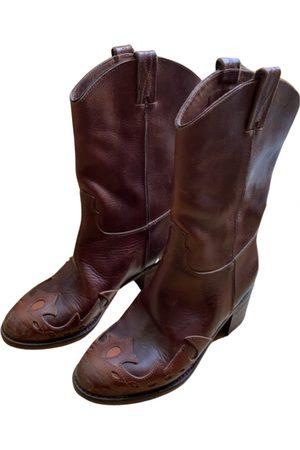 L'Autre Chose Leather cowboy boots