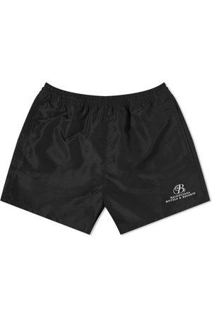 Balenciaga Men Swim Shorts - Resort Logo Swimshort