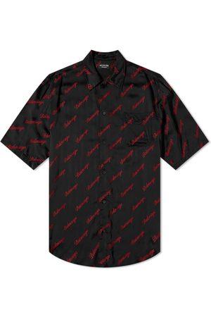 Balenciaga Men Short sleeves - Short Sleeve Script Logo Shirt