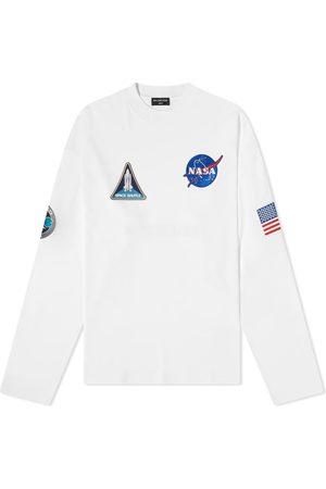 Balenciaga Men Long Sleeve - NASA Oversized Space Tee