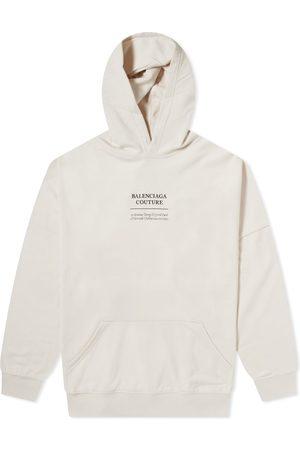 Balenciaga Men Hoodies - Oversized Couture Logo Popover Hoody