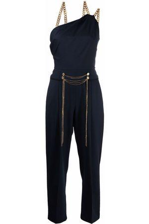 Oscar de la Renta Women Jumpsuits - Chain-detail tailored jumpsuit