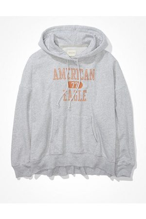American Eagle Outfitters Fleece Graphic High-Low Hoodie Women's XXS