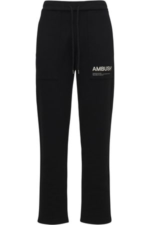 AMBUSH Logo Print Cotton Jersey Sweatpants