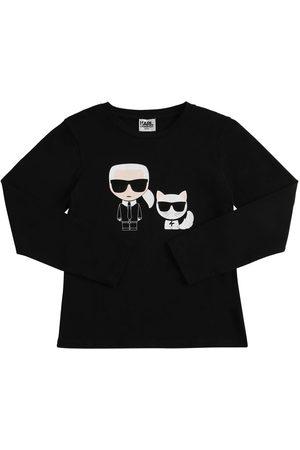 Karl Lagerfeld Karl & Choupette Cotton Blend T-shirt
