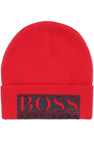 HUGO BOSS Boys Beanies - Logo Tech Knit Beanie