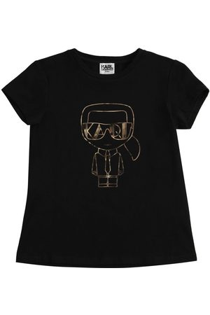 Karl Lagerfeld Karl Print Organic Cotton Blend T-shirt