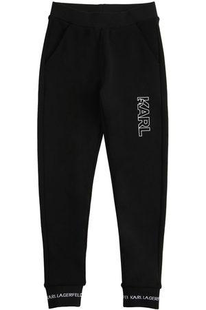 Karl Lagerfeld Girls Sweatpants - Logo Print Cotton Sweatpants