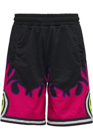 BARROW Mesh Logo Flame Shorts