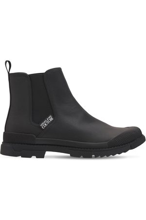 VERSACE Magnetar Leather & Rubber Boots