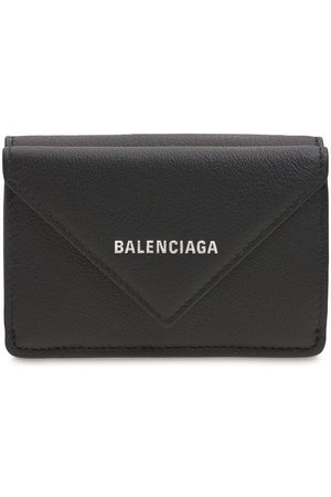 Balenciaga Women Wallets - Logo Leather Wallet