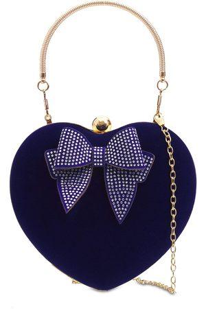 MONNALISA Heart Velvet Shoulder Bag