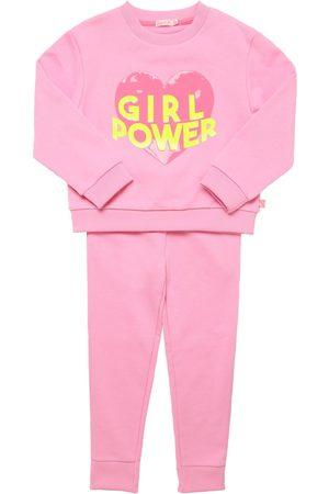 Billieblush Girls Sweatpants - Printed Cotton Sweatshirt & Sweatpants