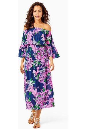 Lilly Pulitzer Women Strapless Dresses - Ravyn Off-The-Shoulder Midi Dress