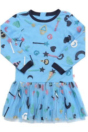 Billieblush Girls Printed Dresses - All Over Glitter Printed Dress